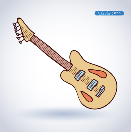 lead guitar: electric guitar vector illustration.