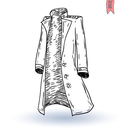 blazer: Steampunk man coat, hand drawn vector illustration.