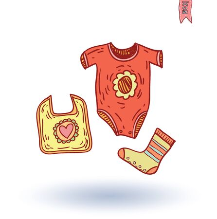 baby clothing: baby clothing, vector illustration