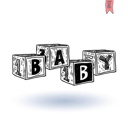 alphabet blocks: alphabet blocks, vector illustration