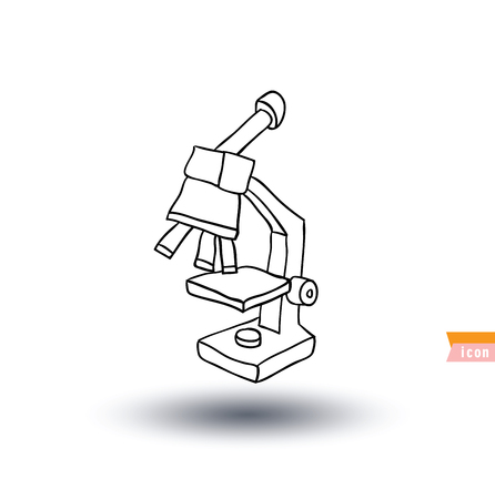 immunology: microscope, Hand drawn vector illustration