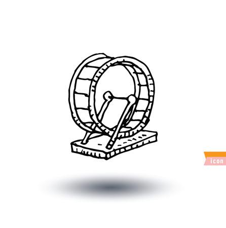 Pet icon hamster wheel, vector illustration. Illustration