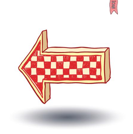 flechas curvas: icono de la flecha, ilustración vectorial.