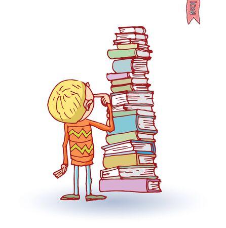 book vector: Kid book, vector illustration. Illustration