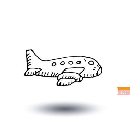 plane vector: plane, vector illustration. Illustration