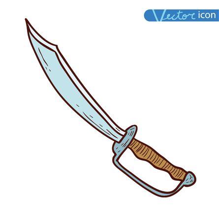 sea robber: pirate sword, vector illustration. Illustration