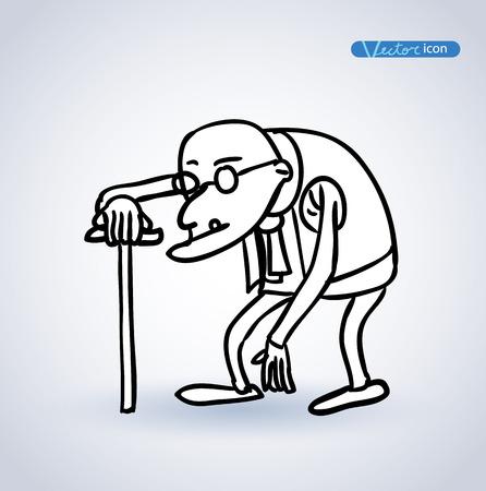 corcovado: viejo, ilustraci�n vectorial.