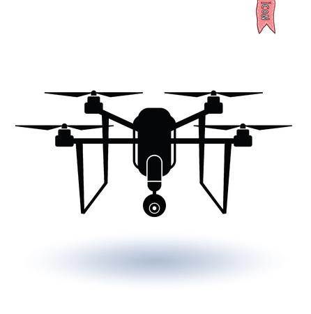 spy camera: Drone with Camera icon, Vector.