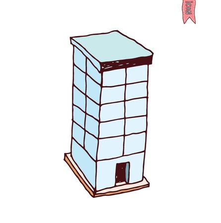 headquarters: Building Icons Set, vector illustration Illustration