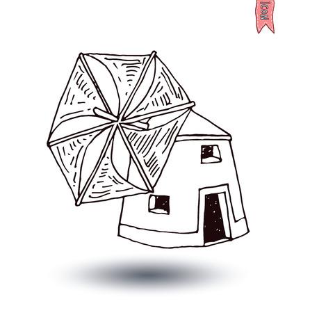 wind mill: Wind mill vector illustration.