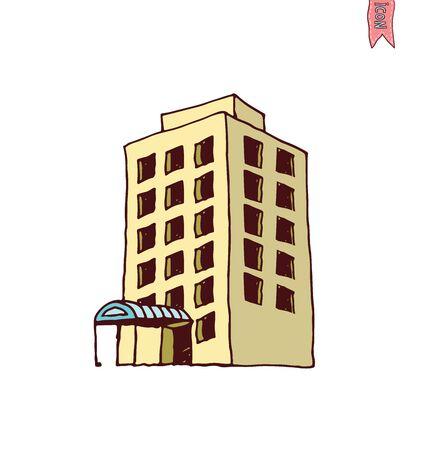 headquarter: Building Icons Set, vector illustration Illustration