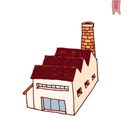 Factory icon, vector illustration