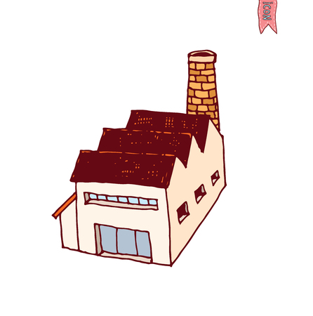 Icona di fabbrica, illustrazione vettoriale Archivio Fotografico - 44694328