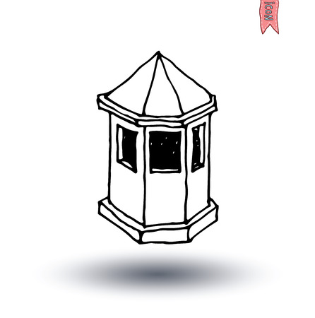 kiosk: kiosk House icon, vector illustration. Illustration