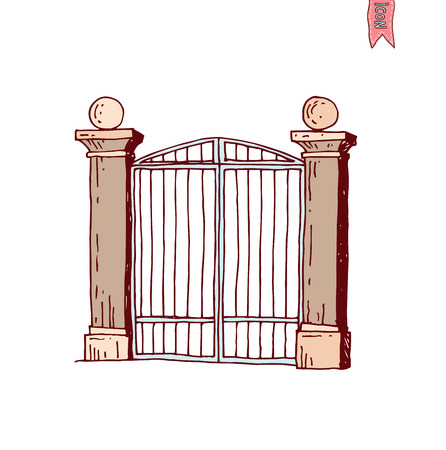 keepout: gate icon, vector illustration