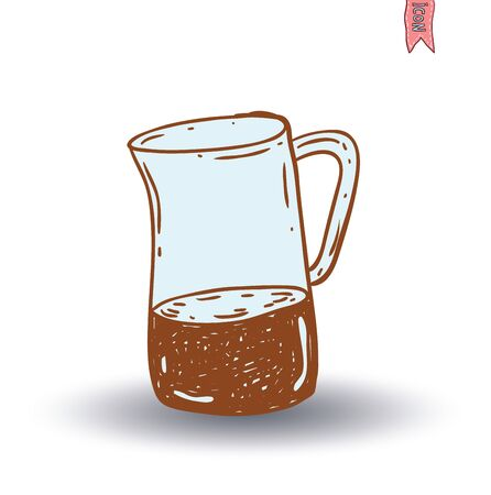 coffee: Coffee pot, Vector isolated Illustration