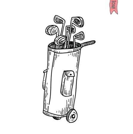 golf equipment: Golf Equipment icon, vector illustration. Illustration