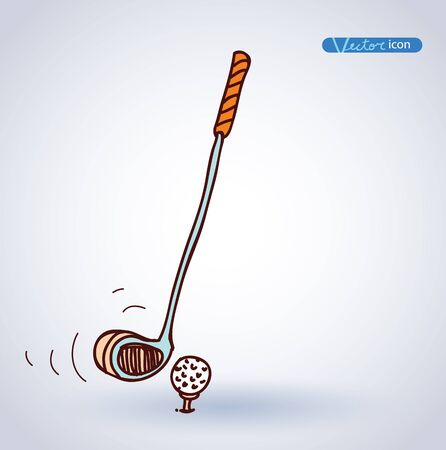 putter: Golf Equipment icon, vector illustration. Illustration