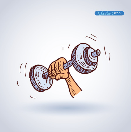 lifting weights: lifting weights icon, vector illustration. Illustration