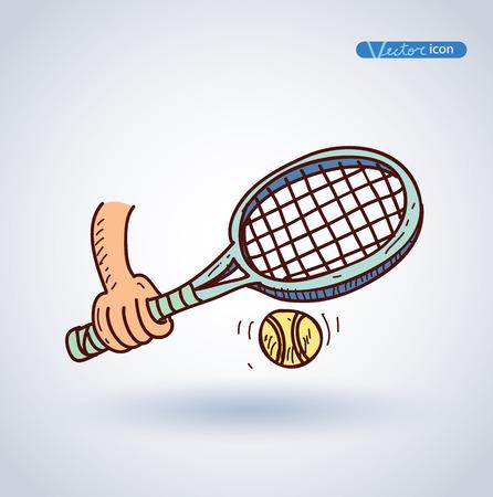 tennisball: tennis ball icon, vector illustration.
