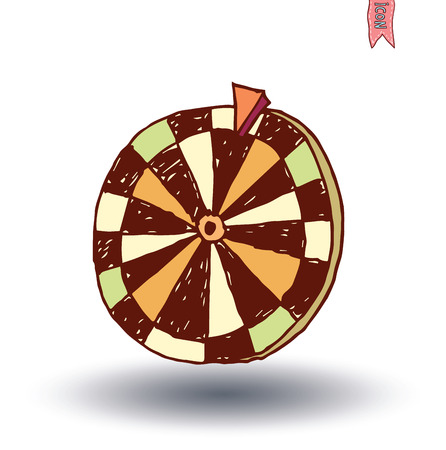 wheel of fortune: Wheel of fortune, hand drawn vector illustration.