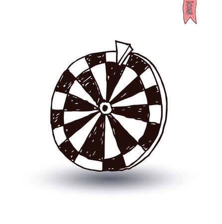 rueda de la fortuna: Rueda de la fortuna, dibujado a mano ilustración vectorial.