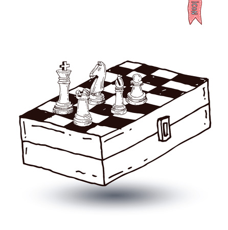 chess piece: chess piece, hand drawn vector illustration.