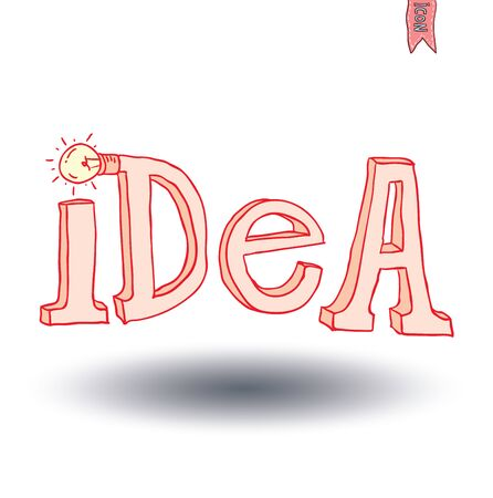 association imagine: idea text, vector illustration.
