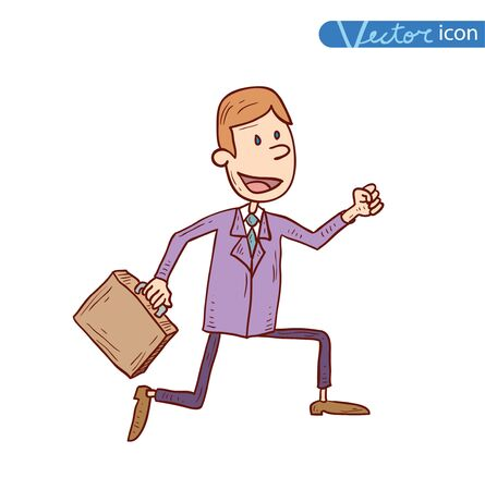 arms outstretched: Businessman sucess, vector illustration.