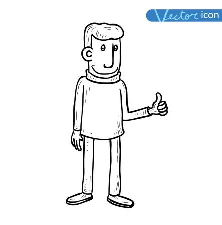 sucess: Businessman sucess, vector illustration.