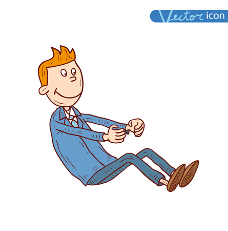 man in air: man driving on air concept, vector illustration.