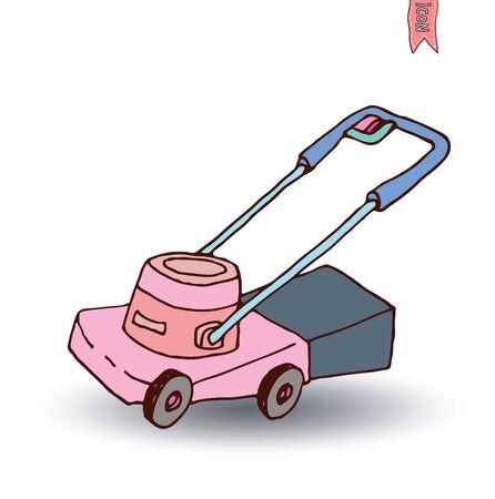 lawn: Grasmaaier, vector illustratie.