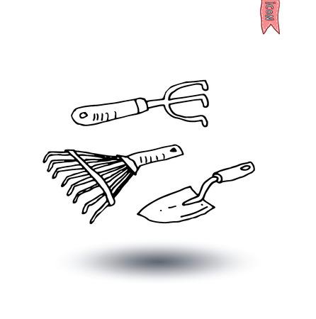 hand shovels: Gardening tools , vector illustration.