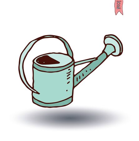 pail tank: watering can, vector illustration. Illustration