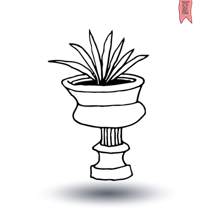 vase of flowers: vase of flowers, Vector illustration. Illustration