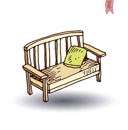 garden chair: garden chair isolated,  vector illustration.