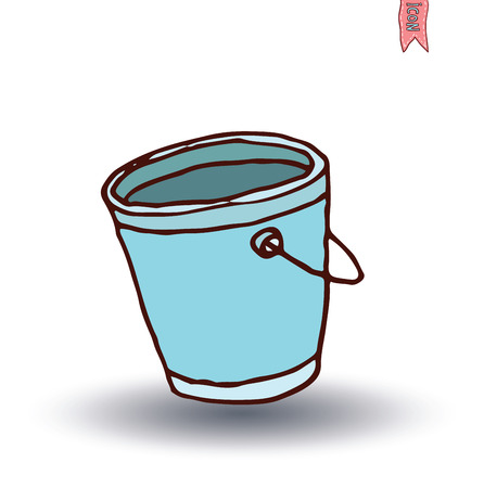 bucket, vector illustration.