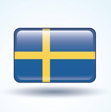 sweden: Flag of Sweden vector illustration
