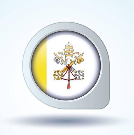 vatican city: Flag of Vatican city, vector illustration