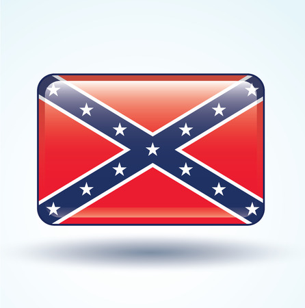 confederate: Flag of Confederate, vector illustration