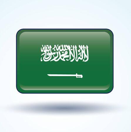 arabia: Flag of Saudi Arabia, vector illustration