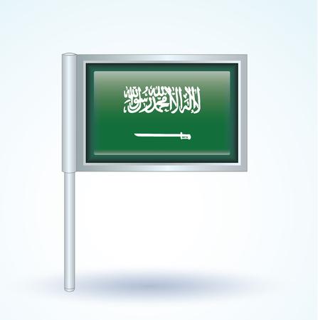 saudi: Flag of Saudi Arabia, vector illustration
