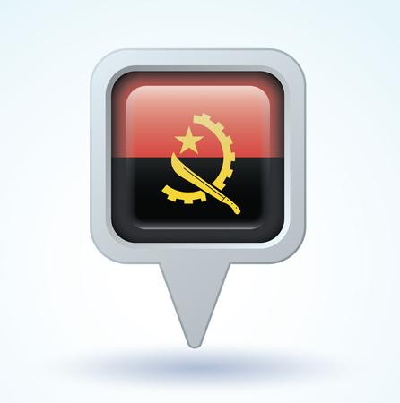 angola: Flag of Angola, vector illustration Illustration