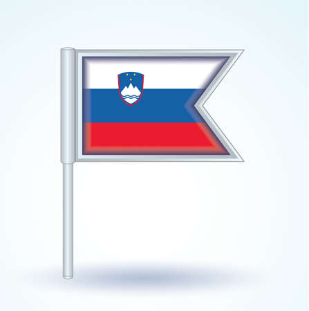 slovenia: Flag of Slovenia, vector illustration