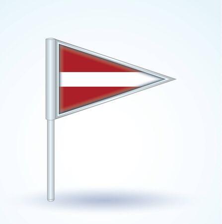 latvia: Flag of Latvia, vector illustration