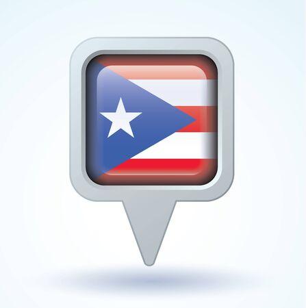 puerto: Flag of Puerto rico, vector illustration
