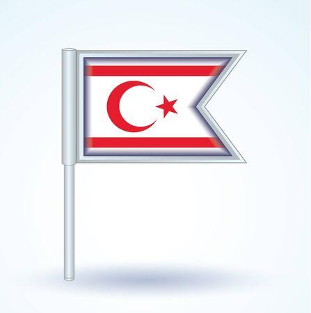 northern: Flag of Northern Cyprus, vector illustration Illustration