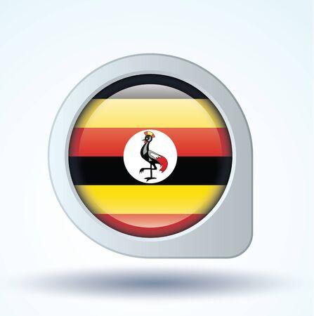 uganda: Flag of Uganda, vector illustration Illustration