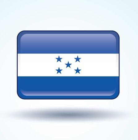 honduras: Flag of Honduras, vector illustration Illustration