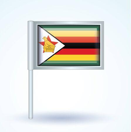 zimbabwe: Bandera de Zimbabwe, ilustración vectorial